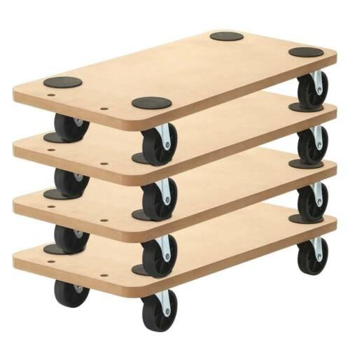 "4 Pack 23""x11.5"" Dolly Moving Cart Platform 550LB Rectangle Wood Mover Platforms"