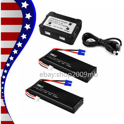 7.4V Lithium Battery Balanced Charger For Hubsan H501S X4 Quad RC Drone US