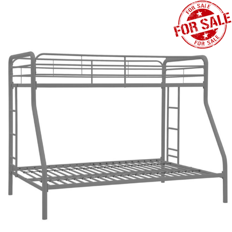 Twin Over Full Size Metal Bunk Bed Beds Heavy Duty Sturdy Ki