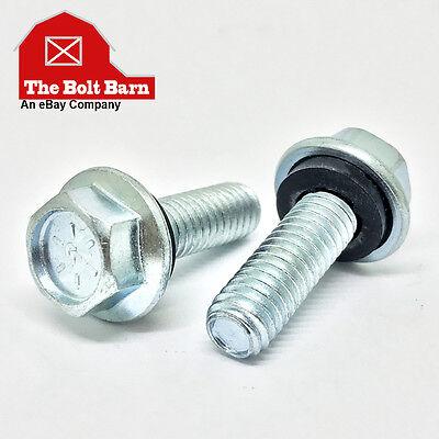 100 516-18x34 Grade 8 Flange Grain Bin Steel Building Bolts W Rubber Washers