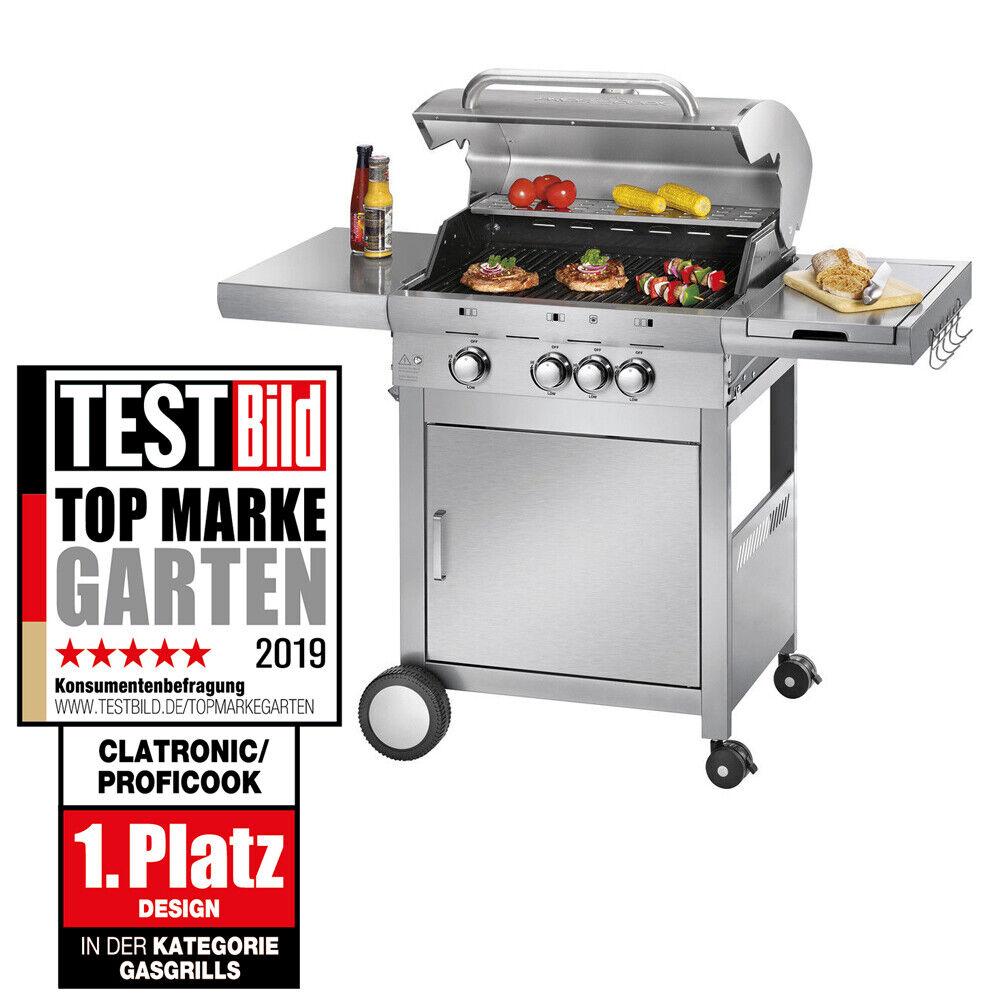 PROFICOOK Gasgrill PC-GG 1058 Gas-Grill Profi-Gasgrill Grillwagen Edelstahl BBQ