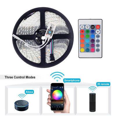 5m Wifi APP Control LED RGB Light Strip waterproof forAlexa Google Home...