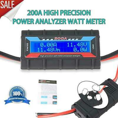 200a Dc Digital Monitor Lcd Display Volt Amp Watt Meter With Hole For Cooling