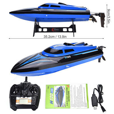 H100 High Speed RC Boat 2.4GHz 30km/h 4Channel Racing Remote Control Toy Gift