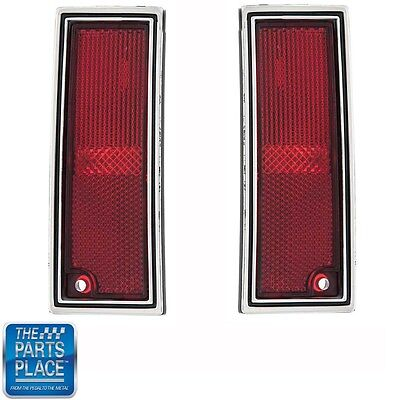 1980-90 Impala / Caprice / Parisienne LH / RH Rear Side Marker Light - Pair ()