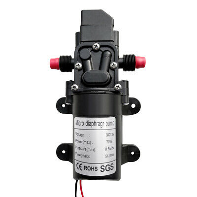 Dc12v 130psi 6lmin Water High Pressure Diaphragm Self Priming Pump Garden 70w