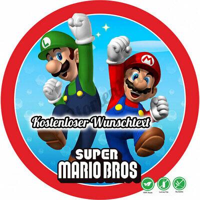 tstag Tortenbild Zuckerbild Oblate Bros Super Mario  (Super Mario Kuchen)