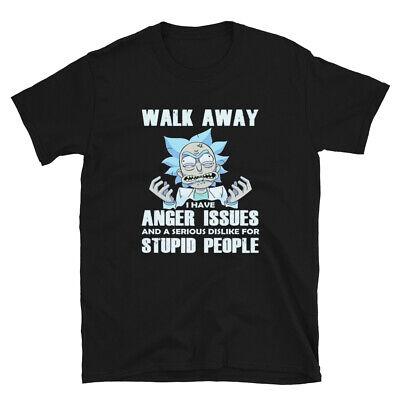 Rick And Morty t-shirt ,Cartoon rick morty funny shirt,walk away i have (Best Rick And Morty Shirts)