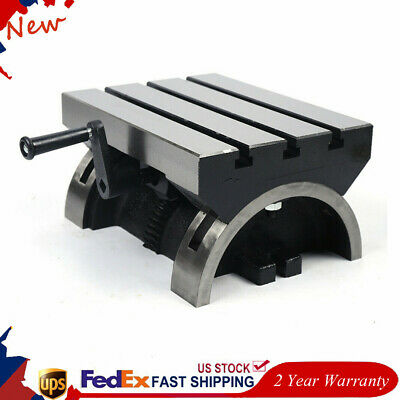 12 Tilting Metalworking Table Plate Swivel Angle 0-45 For Milling Machine