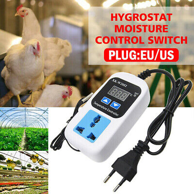 Digital Humidity Controller Hygrostat Moisture Control Switch Socket 110v-220v