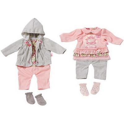 Zapf Creation 794005 - Baby Annabell Babypuppen Kleidung Outfit Grau Rosa NEU