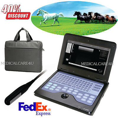 Veterinary Ultrasound Scanner 7.5m Rectal Probe Vet Laptop Machine To Horsecaw