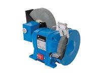 Silverline DIY 250W Wet & Dry Bench Grinder mains 150 200mm sharpening 544813