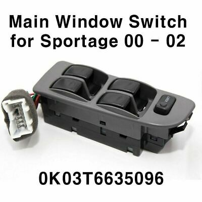 OEM 0K03T6635096 Power Window Switch Front Left LH Kia 00-02 Sportage 2.0L