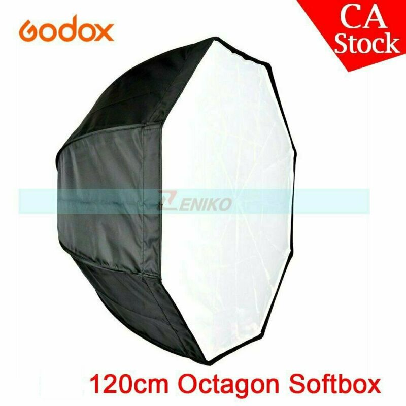 "US Godox 47"" 120cm Octagon Umbrella Softbox for Strobe Studio Flash Monolight"