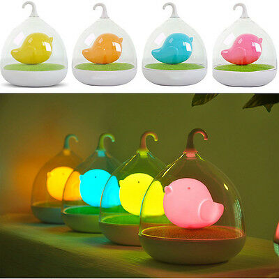 Vogue LED Nightlight Lamp Touch Sensor Cute Bird Style Light Home Bedroom Decor
