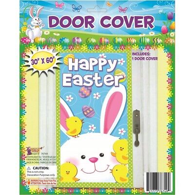 Happy Easter Plastic Door Cover 30 x 60 Inch Happy Easter Door Cover