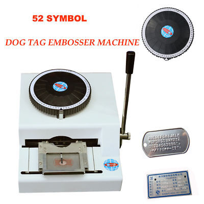 52 Characters Card Embossing Machine Metal Nameplate Dog Tag Code Press Stamping