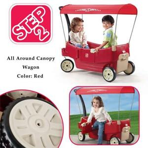 NEW Step2 All Around Canopy Wagon, Red - 822700 Condtion: New