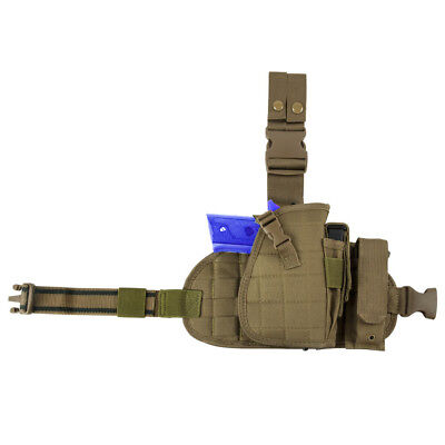 Tactical Pistol Gun Holster with Leg Harness for Military SWAT Halloween Costume