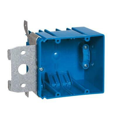 Carlon 2-gang 34 Cu. In. Adjustable Pvc Electrical Box With Side Clamp
