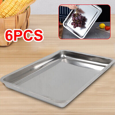 6 - Pack 2 Inch Deep Full Size Steam Table Pan Stainless Steel Durable
