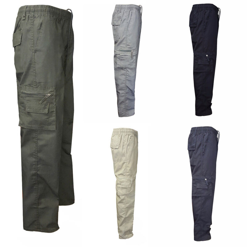 ❤️men Pocket Army Military Combat Cargo Camo Casual Work Tactical Pants Trousers