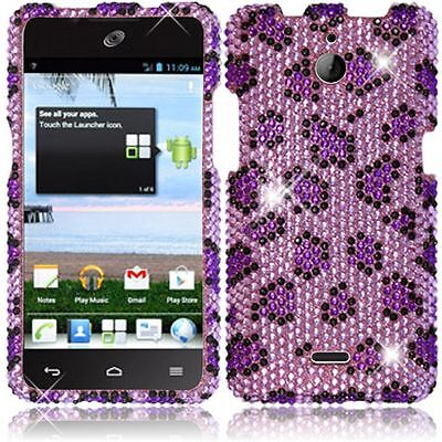 For Huawei H881C ACE Crystal Diamond BLING Hard Case Phone Cover Purple Leopard](phone cases for huawei h881c)
