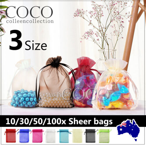 Jewellery - Wedding Gift Organza Bags Party Favour Candy Pouch Jewellery Packaging Sheer Bag