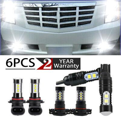 For Cadillac Escalade 07-14 6X 5202+T10+H11 Headlight LED Fog Light Bulbs DRL F
