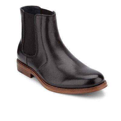 Dockers Mens Ashford Genuine Leather Plain Toe Slip-on Chelsea Dress -