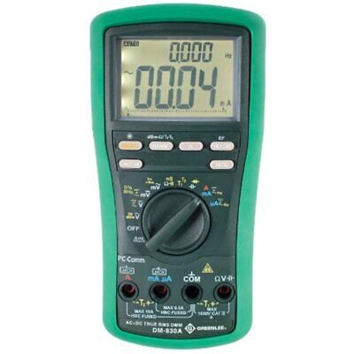 Greenlee Dm-830a Dmm Trms Acdc Dualtemp Multi Testers
