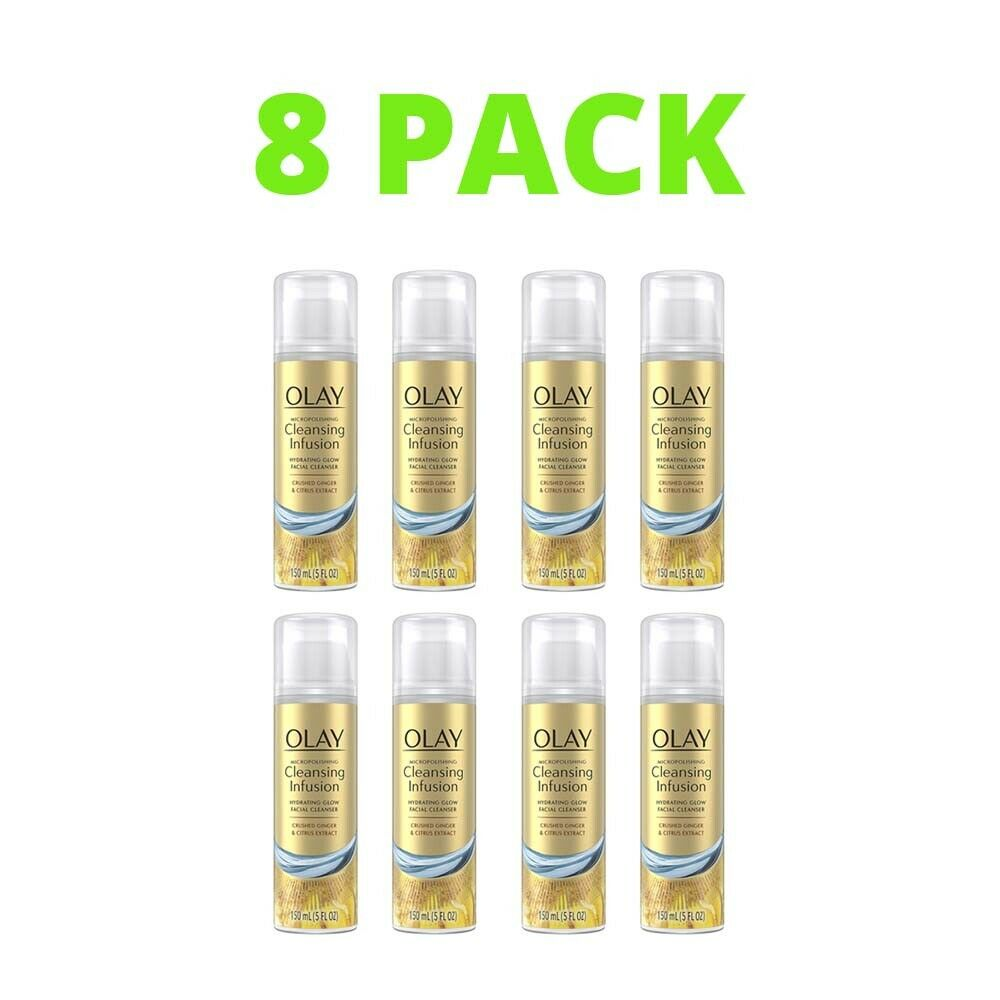 8 Pack Olay Cleansing Infusion Facial Cleanser Crushed Ginge