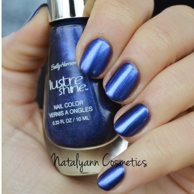 Sally Hansen Lustre Shine Nail Color 10ml 004 AZURE NEW + FREE P&P ...