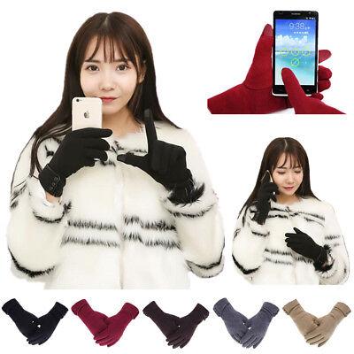 Red Girls Gloves Touchscreen Texting Warm Winter Snow Sale - Girls Red Gloves