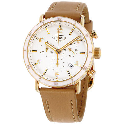 Shinola The Canfield Quartz Movement White Dial Ladies Watch S0120089885