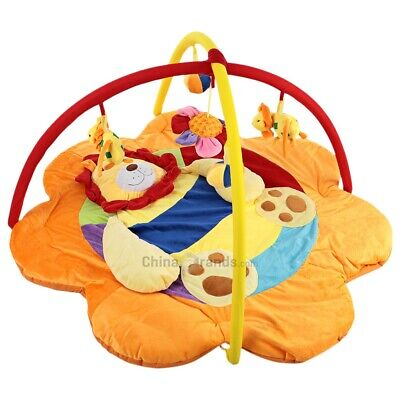 Play Gym Baby Soft Play Mat Lion Gym Blanket with Frame Rattle Crawling Toy