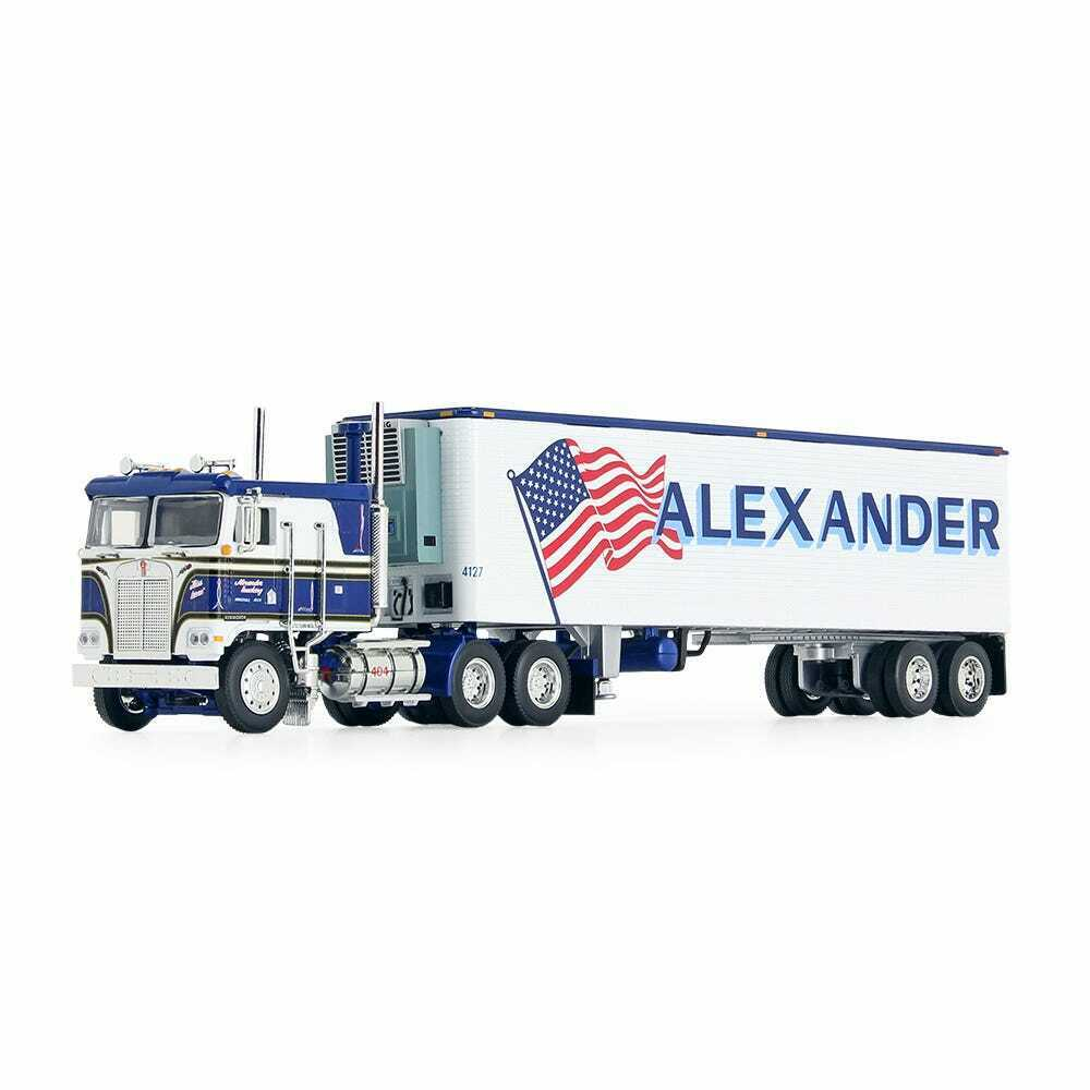 1/64 Dcp 60-0846 white/blue Alexander KW K100 w/40ft reefer new in box