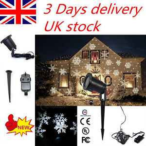 Snowflake Moving Sparkling LED Landscape Laser Projector Wall  Xmas Party Light