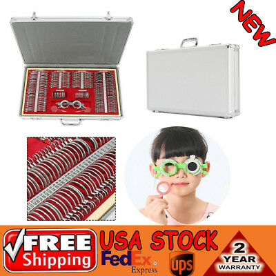 Us 266 Pcs Optical Trial Lens Set Metal Rim 1 Pc Trial Framealuminium Case Us