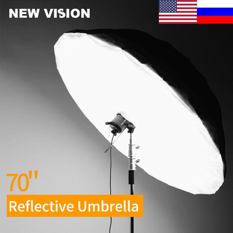 Godox 70'' Silver Black Photography Reflective Umbrella with Diffuser Cover