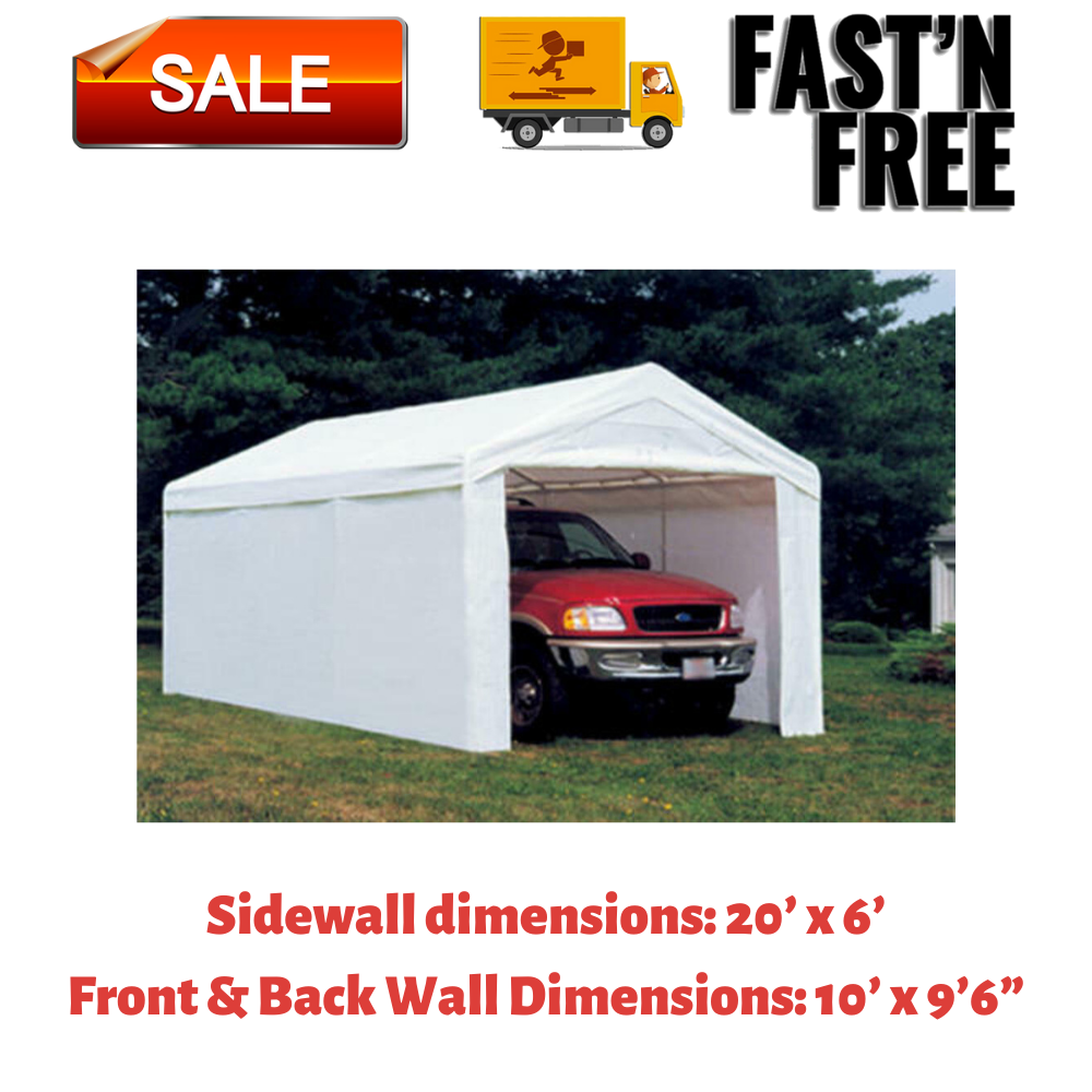 Heavy Duty10'x20' Outdoor Canopy Shelter Shed Garage Carport