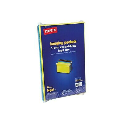 Staples Hanging File Folders 3.5 Expansion Legal Size Assorted 4pk 781575