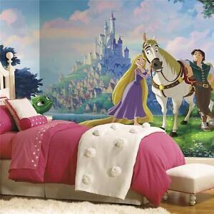 disney wallpaper mural ebayyork prepasted wall paper disney princess tangled xl giant wall mural 6 x 10 5\u0027
