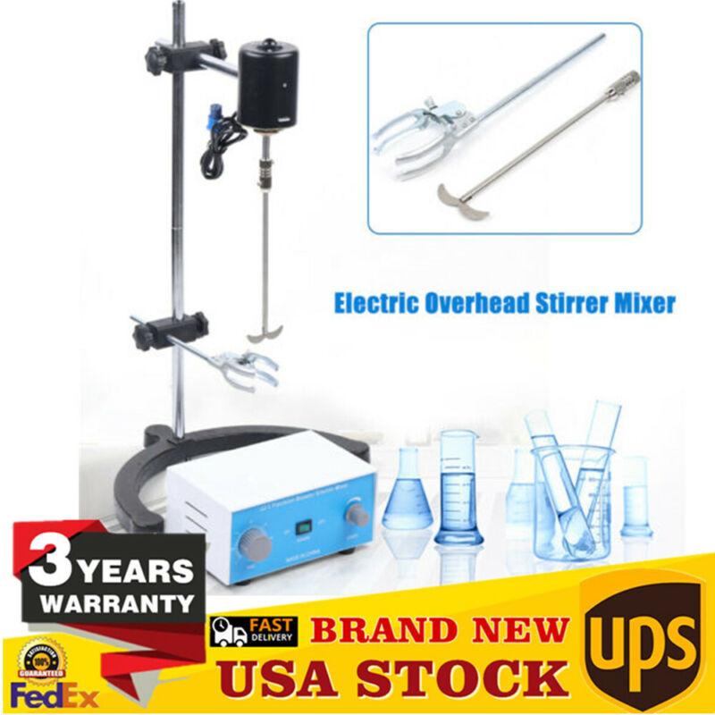 Precision Electric Stirrer Overhead Mixer Drum Mix Laboratory stirrer 60W-200W