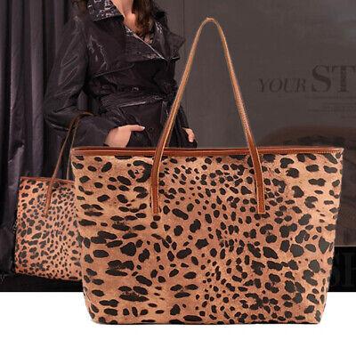 Leopard Fashion Tasche (Fashion Leopard PU Leder Damen Handtasche Tote Bag Schultertasche Einkaufstasche)