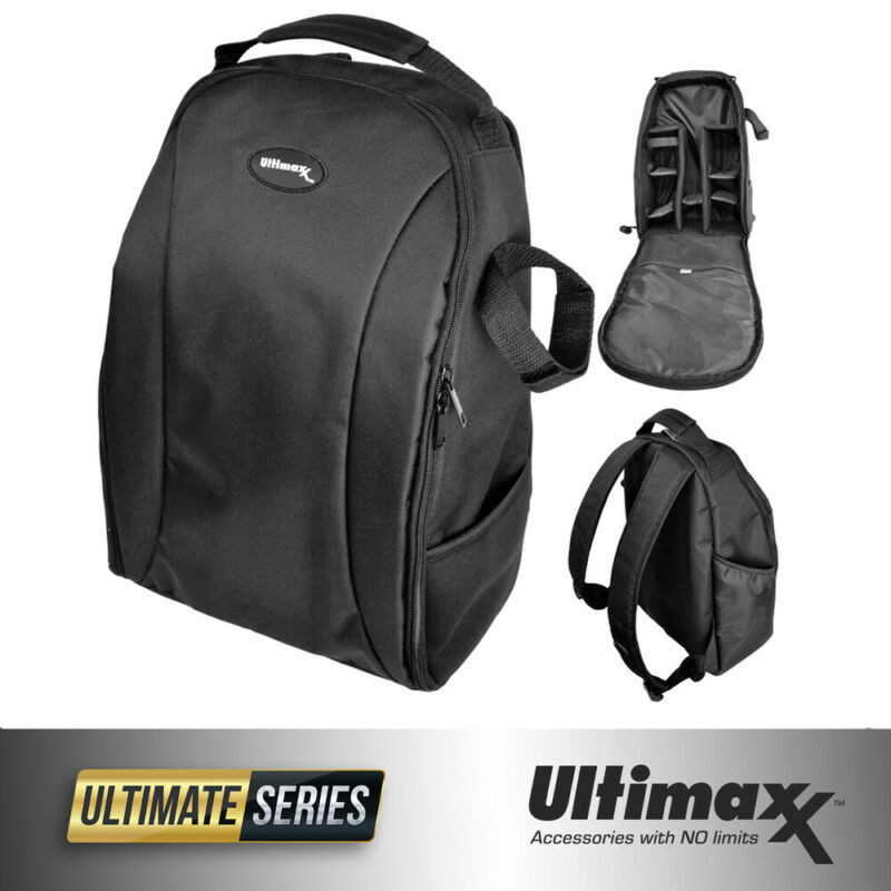 Ultimaxx Professional DSLR Camera Backpack for Canon Nikon Sony Samsung + More