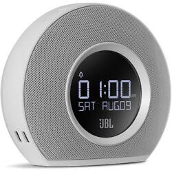 JBL Horizon Alarm Clock Radio Bluetooth Speaker with USB Charging & Aux - White