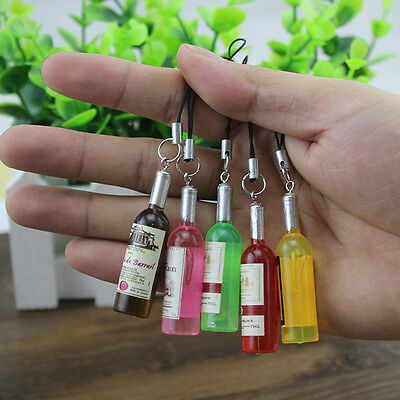 Wholesale Mini Resin Fake Wine Bottle Charm Keyring Keychain Pendant Craft Gift](Mini Wine Bottle)