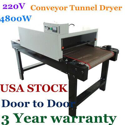 Us Stock-small T-shirt Conveyor Tunnel Dryer 5.9ft. Long X 25.6 Belt 220v 4800w